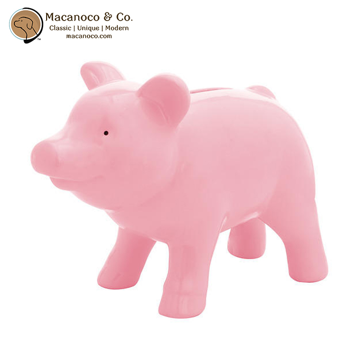 Pink Ceramic Piggy Bank Macanoco And Co