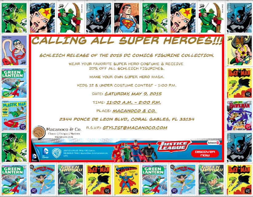 Super Hero Day Invitation