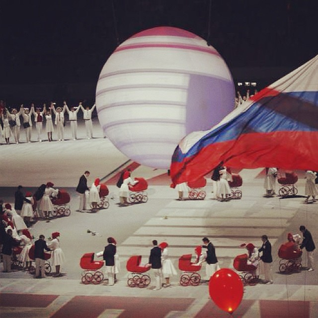 Inglesina Press 02-10-2014 Did you see our beautiful Inglesina prams during the Sochi2014 Opening Ceremony 3
