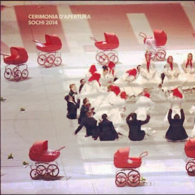 Inglesina Press 02-10-2014 Did you see our beautiful Inglesina prams during the Sochi2014 Opening Ceremony