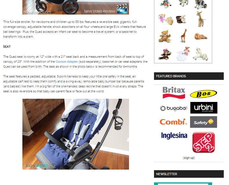 Inglesina Press 05-28-14 Baby Gizmo Spotlight Review Inglesina Quad Stroller 2