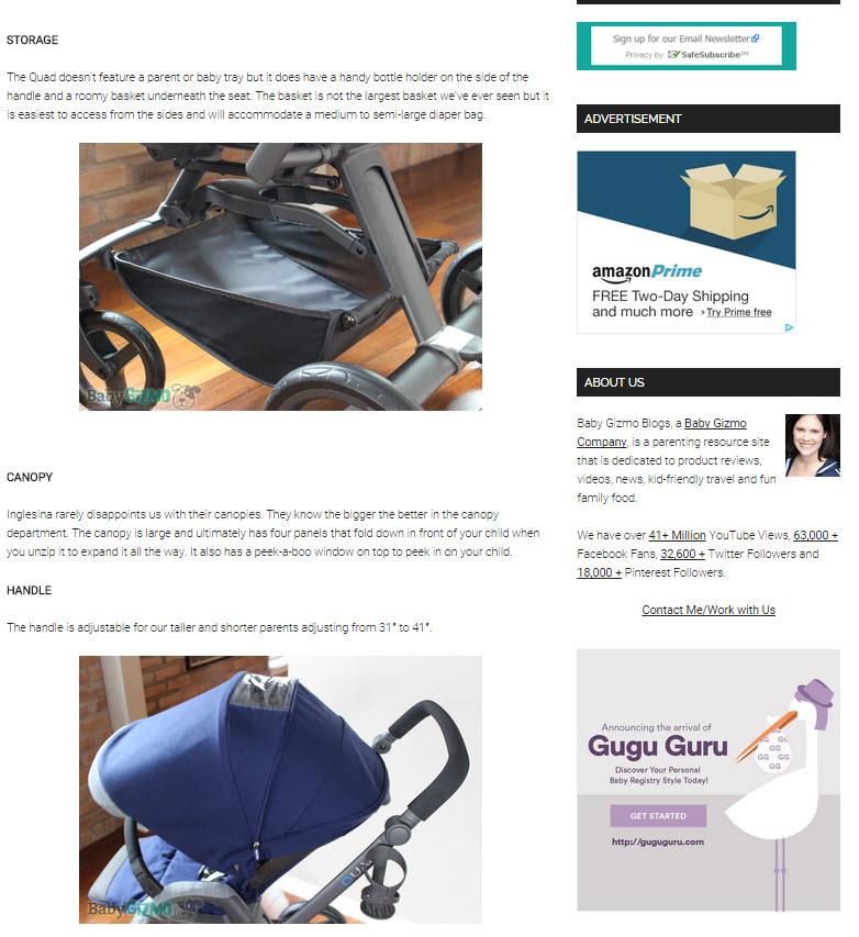 Inglesina Press 05-28-14 Baby Gizmo Spotlight Review Inglesina Quad Stroller 3