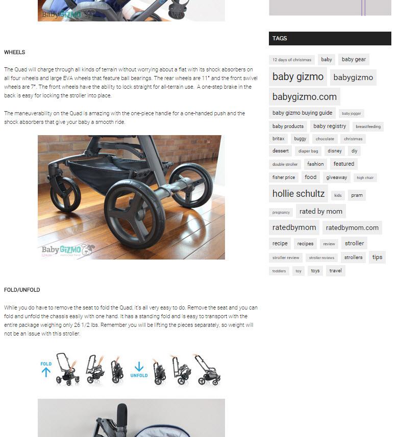 Inglesina Press 05-28-14 Baby Gizmo Spotlight Review Inglesina Quad Stroller 4