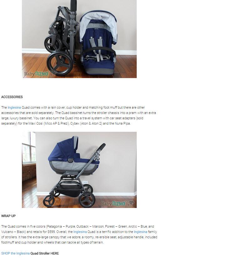 Inglesina Press 05-28-14 Baby Gizmo Spotlight Review Inglesina Quad Stroller 5