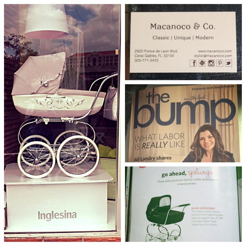 Macanoco Press 08-07-13 Our Inglesina Classica Pram was just featured on The Bump Magazine